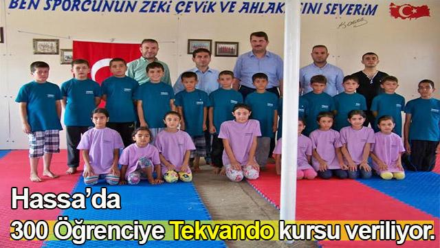 Hassa'da 300 öğrenciye Tekvando kursu