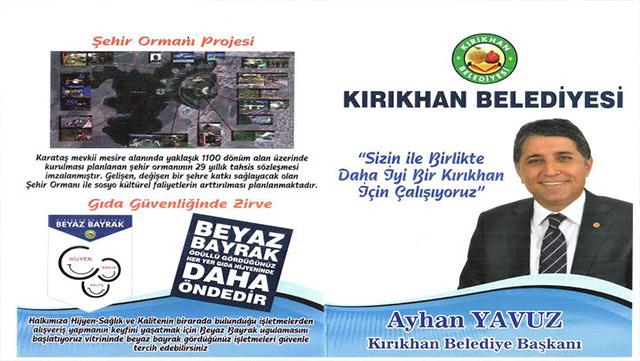 Kırıkhan Belediyesi'nden Esnaf ve Halka hizmet broşüru