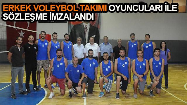 HBB Erkek Voleybol Takımı oyuncuları ile sözleşme imzalandı