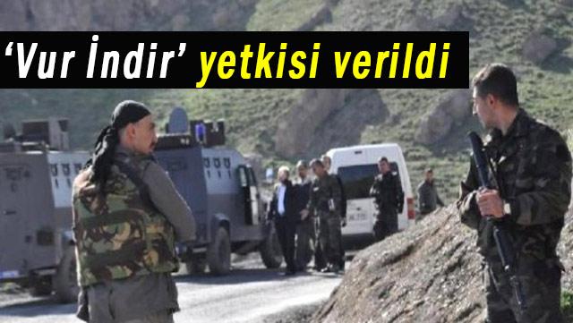 Asker ve Polise 'Vur İndir' yetkisi