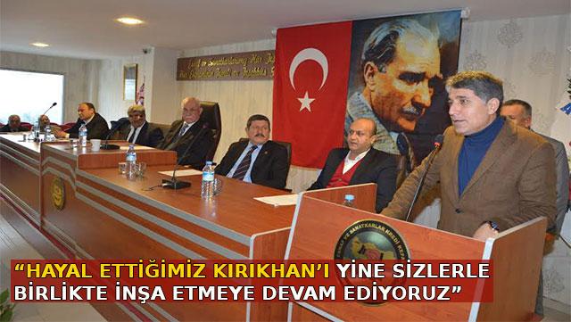 Başkan Yavuz Esnaf Kefalet Kooperatifi Olağan Mali Kurul toplantısında konuştu