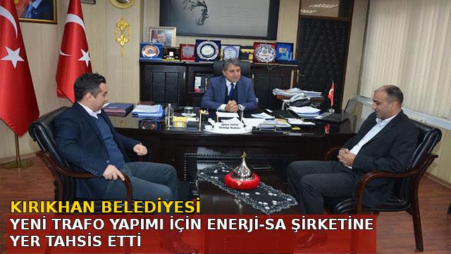 Kırıkhan Belediyesi Yeni Trafo yapımı için Enerji-Sa şirketine yer tahsis etti