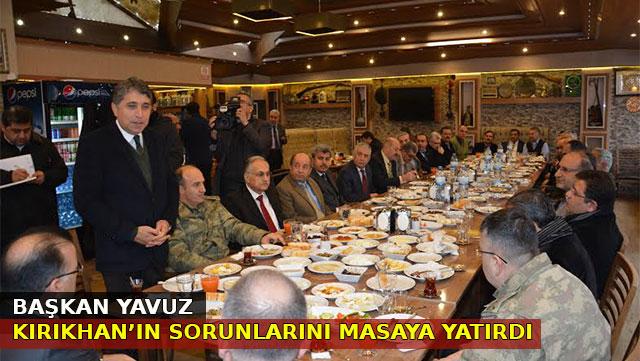 Başkan Yavuz Kırıkhan'ın sorunlarını masaya yatırdı