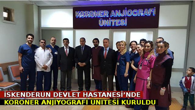 İskenderun Devlet Hastanesi'nde 'Koroner Anjiyografi' ünitesi kuruldu