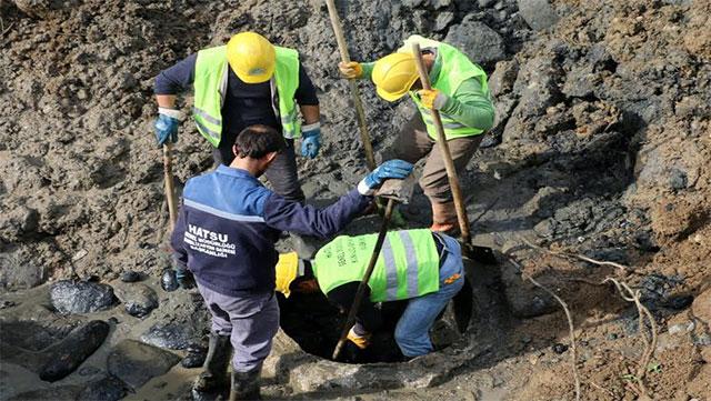 HATSU'dan tıkanmış kanalizasyon hatlarına müdahale