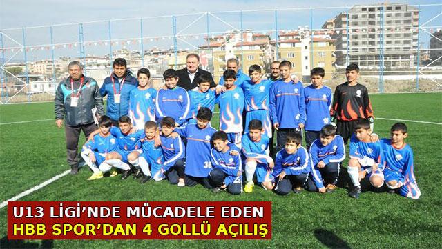 U13 Ligi'nde mücadele eden HBB Spor'dan 4 gollü açılış