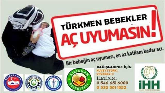 Türkmen Çocuklar için 'Mama' Kampanyası