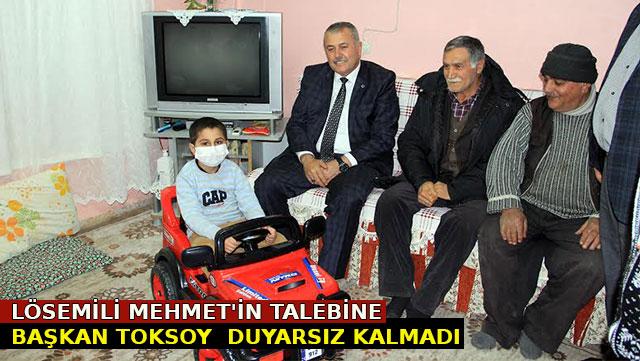 Lösemili Mehmet'in talebine Başkan Toksoy duyarsız kalmadı