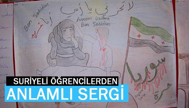 Hassa'da Suriyeli Öğrencilerden Resim Sergisi