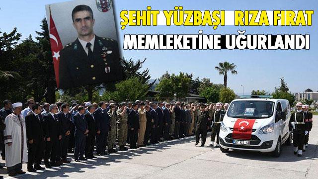 Şehit Yüzbaşı Hatay'da düzenlenen törenin ardından memleketine uğurlandı