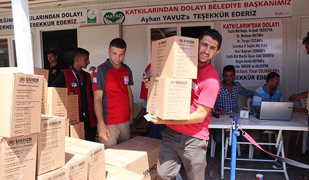 Kızılay Kırıkhan'da 5 Bin aileye hijyen paketi dağıttı