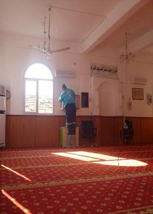 Antakya Belediyesi ibadethanelerde temizlik çalışmalarını özenle sürdürüyor