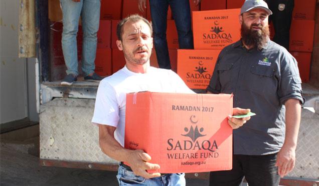 Avusturalya SADAQA Yardım Derneğinden Suriyelilere gıda yardımı