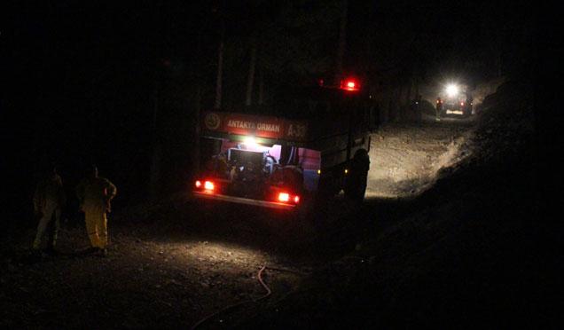 Kopan elektrik teli yangına neden oldu