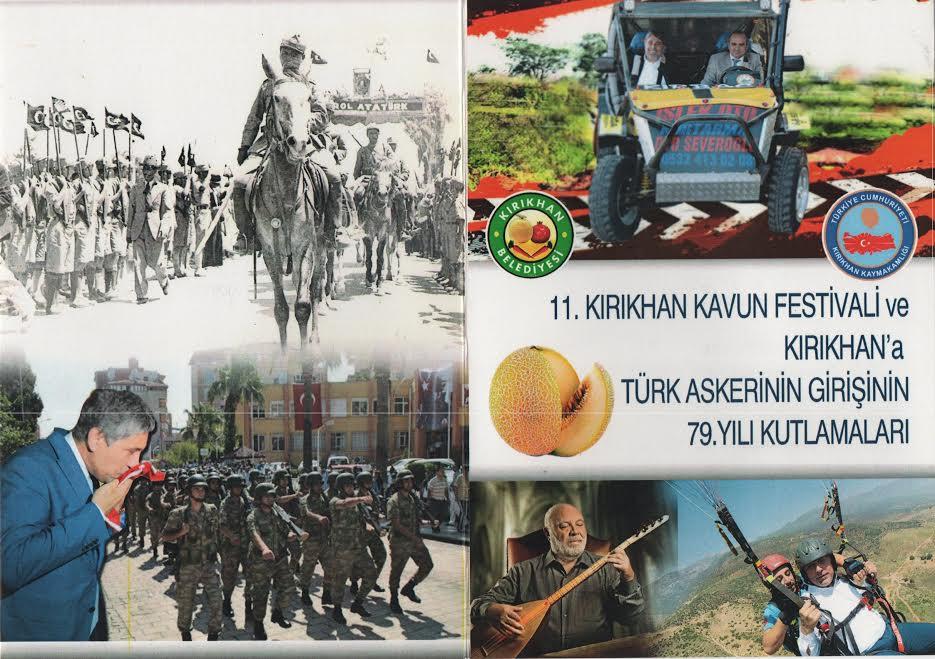 Başkan Yavuz '11. Kavun Festivali ve Türk Askerinin Kırıkhan'a girişinin 79. yılı kutlamalarına tüm halkımız davetlidir'