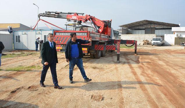 Kırıkhan araç muayene istasyonu inşaatı çalışmaları başladı