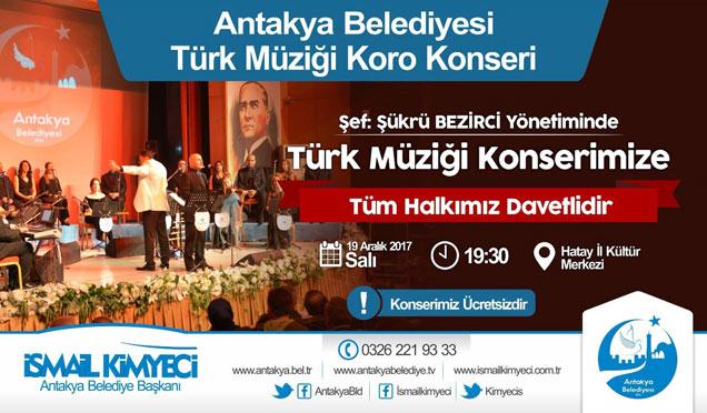 Türk Müziği Korosu İl Kültür Merkezi'nde konser verecek