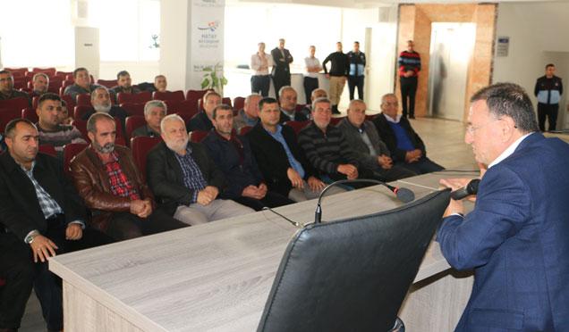 HBB Başkanı Savaş İskenderun'da şoförlerle bir araya geldi