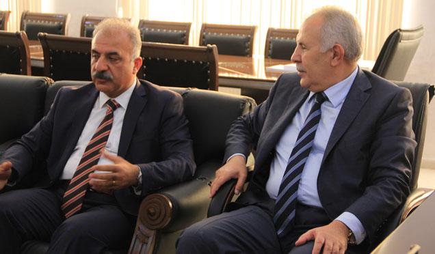 Başkan Nehir, Hatay Valisi Erdal Ata'yla görüştü