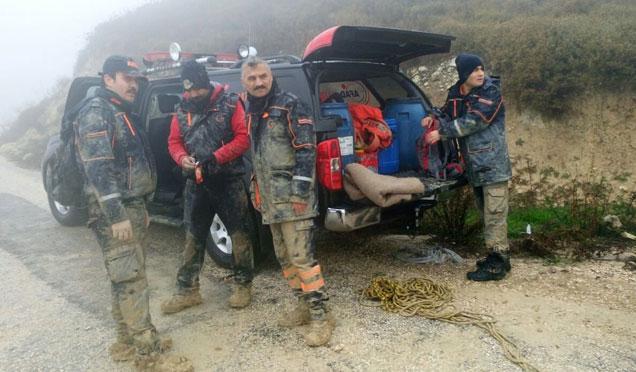 Sisli havada kaybolan Suriyelileri AFAD ekipleri kurtardı