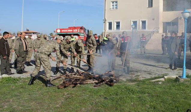 Arsuz'da yangın tatbikatı