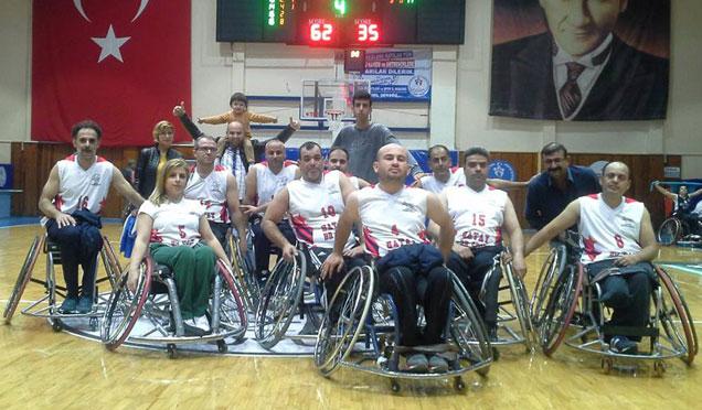 HBB Bedensel Engelliler Basketbol takımı şampiyonluğa ilerliyor