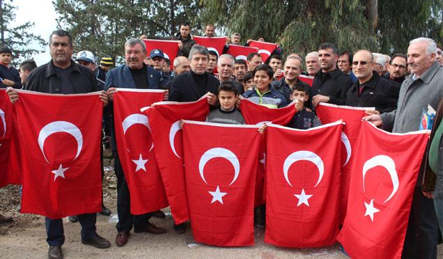 Vatandaşlardan Zeytin Dalı Operasyonu'na destek