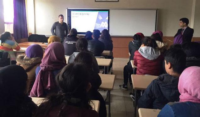 Öğrencilere 'Madde bağımlığı ile Mücadele' eğitimi verildi