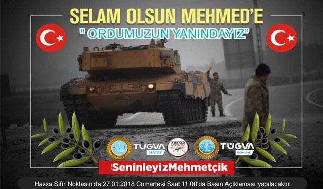 TÜGVA Mehmetçiğe destek için sınırın sıfır noktasında olacak