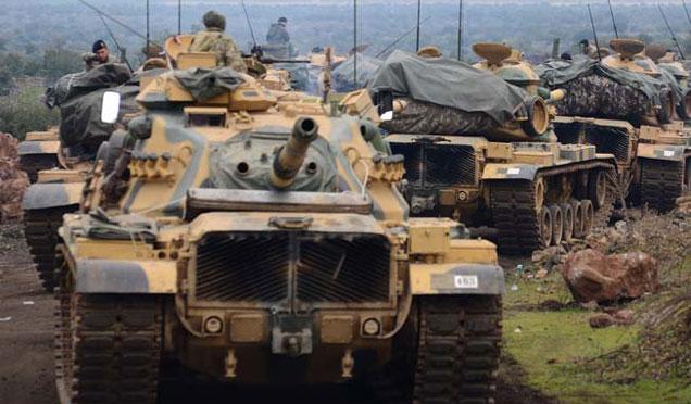 """Tanklar """"Zeytin Dalı Harekatı'na"""" destek için hazır halde bekletiliyor"""