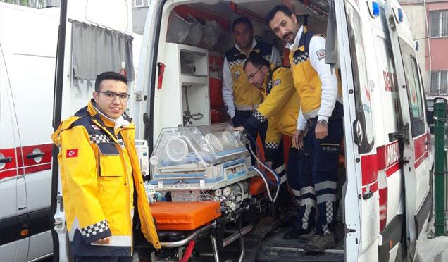 Hatay'daYenidoğan bebeklere özel ambulans
