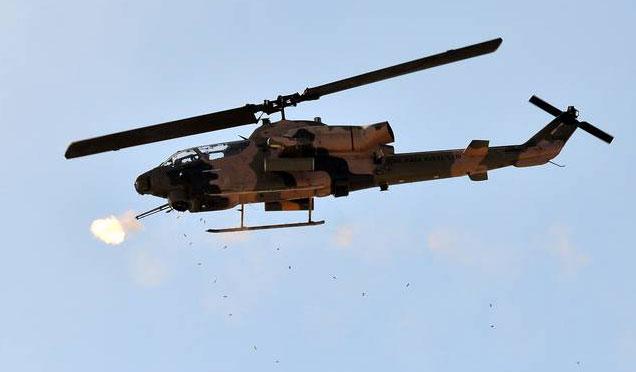 Milli Helikopter ATAK terör mevzilerini vurmaya devam ediyor
