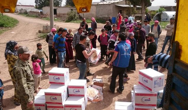 AFAD Afrin'de yardımlarını sürdürüyor