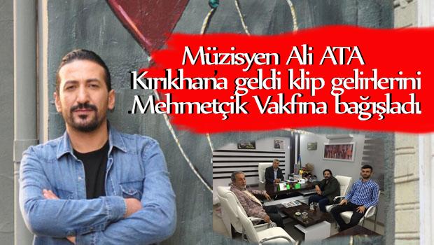 Müzisyen Ali ATA Kırıkhan'a geldi, klip gelirlerini Mehmetçiğe bağışladı