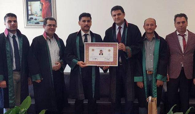 Kırıkhanlı Avukat Metehan Taşçı Avukatlık ruhsatını aldı