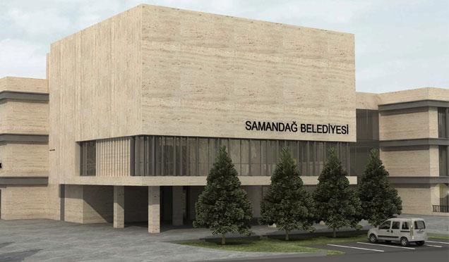 Samandağ Belediyesi yeni hizmet binası projesi hazır