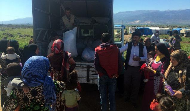 İhtiyaç sahibi Suriyelilere yardım