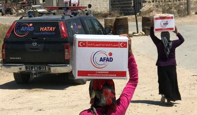 AFAD'ın Afrin yardımları