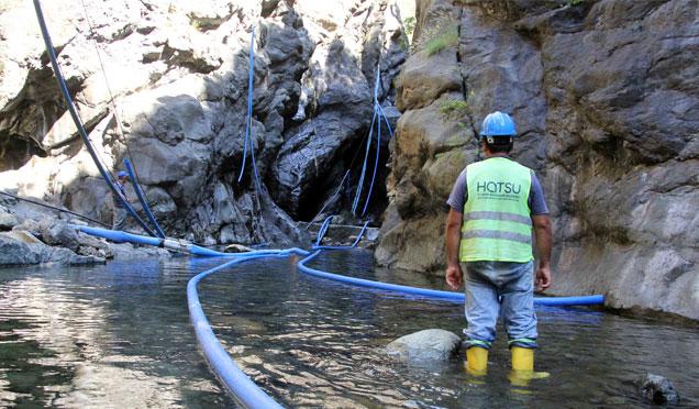 Arabın Gölü mevkiindeki içme suyu hattı yenileniyor