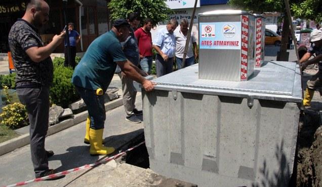 İskenderun'da çöp konteynerleri yer altına alınıyor
