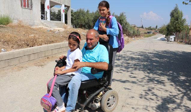 Engelli babanın fedakarlığı