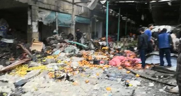 Afrin'de pazar yerinde meydana gelen patlamada 4 kişi öldü