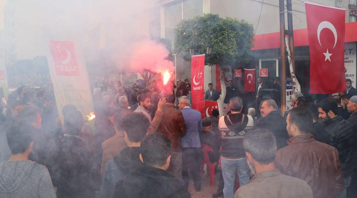 Saadet Partisi Payas'da gövde gösterisi yaptı