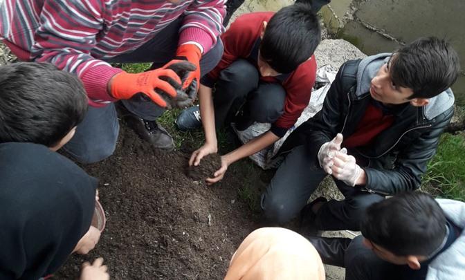 Öğrencilerin Ata Tohum Projesine Eğitim Destek