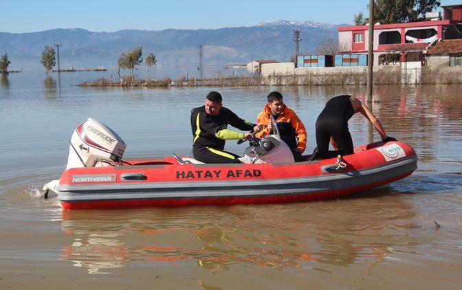 AFAD'dan Su basan mahallelere destek