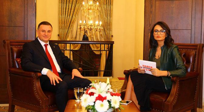 Başkan Savaş Haber Türk'e Hatay'ı Anlattı