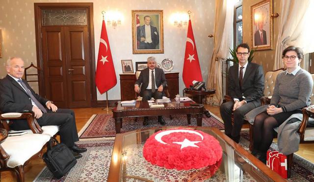 İsviçre'nin Ankara Büyükelçisi Hatay'da