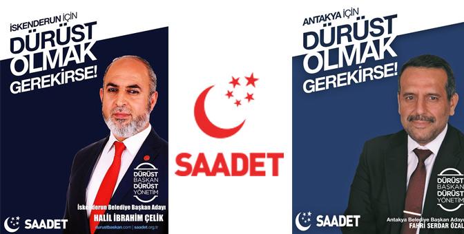 Saadet Partisi'nin Antakya ve İskenderun belediye başkan adayları belli oldu