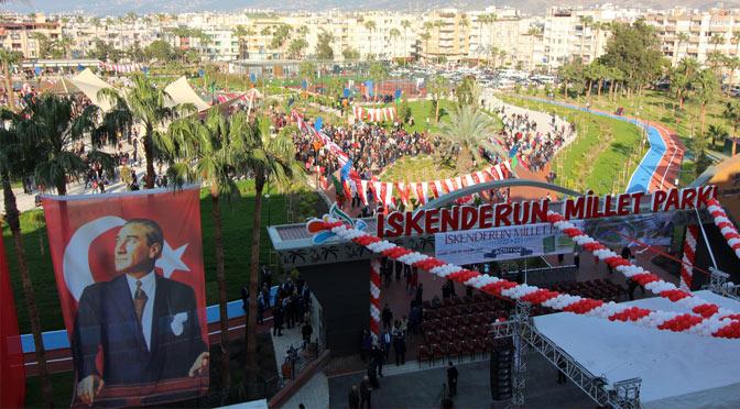 Hatay'ın ilk Millet Parkı İskenderun'da açıldı