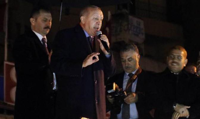 Cumhurbaşkanı Erdoğan; Onlar sırtını YPG'ye, biz ise sırtımızı Hatay'a dayadık